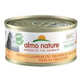 Almo HFC Cat Natural - Tonno e Gamberetti 70 gr.