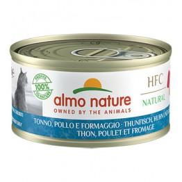 Almo HFC Cat Natural - Tonno, Pollo e Formaggio 70 gr.