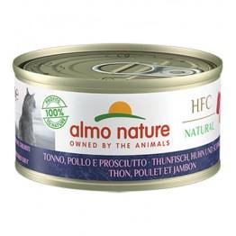 Almo HFC Cat Natural - Tonno, Pollo e Prosciutto 70 gr.