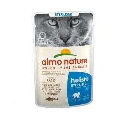 Almo Holistic Cat Functional Sterilised - con Merluzzo 70 gr.