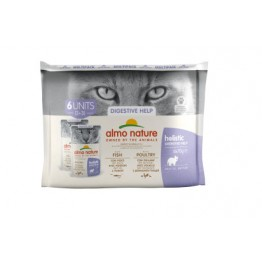 Almo Holistic Cat Functional  Multipack Digestive Help - 3x Pesce + 3x Pollame 6 x 70 gr.