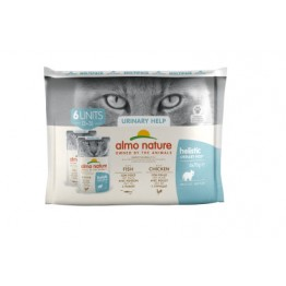 Almo Holistic Cat Functional  Multipack URINARY HELP - 3x Pesce + 3x Pollo 6x 70 gr.