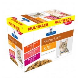 Hills Prescription Diet Feline k/d Kidney Care, Pollo, Manzo, Salmone 85g