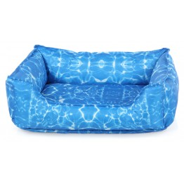 Swisspet Letto di raffredamento per cani e gatti Cool, blu M: 75x58x19cm