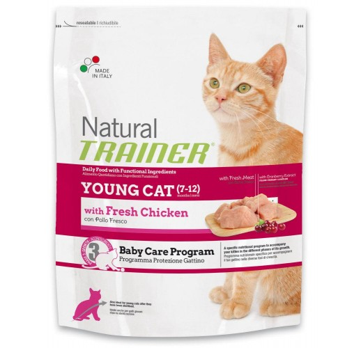 Trainer NATURAL Youg Cat (7-12 months) with Fresh Chicken 1.5kg