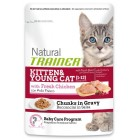 Trainer NATURAL Kitten&Young with Chicken 85gr