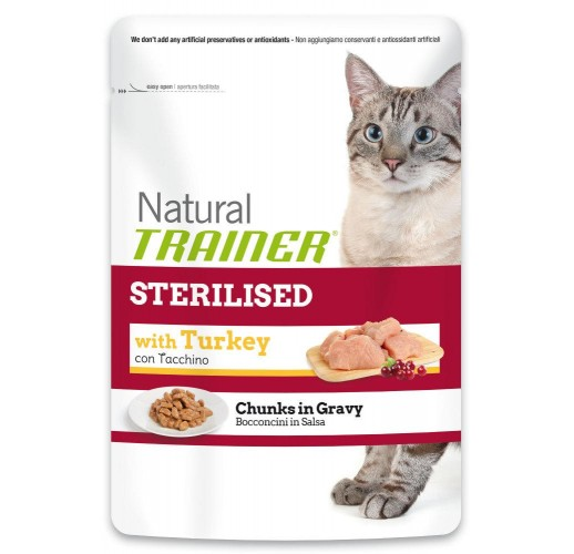 Trainer NATURAL Sterelised with Turkey 85gr