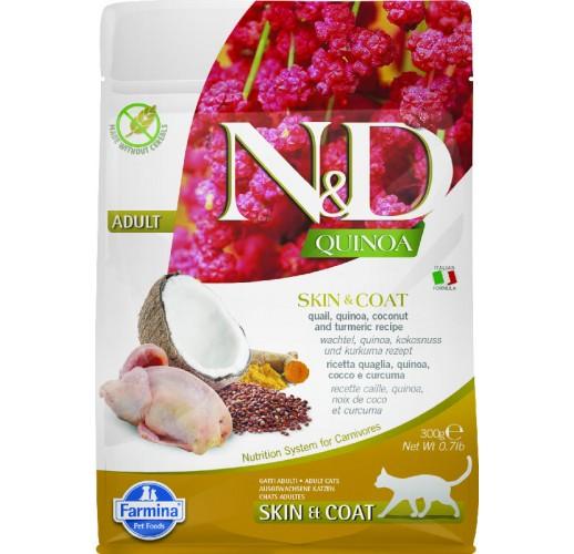 Farmina N&D Quinoa Feline Skin&Coat Quail & Coconut 300g
