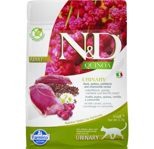 Farmina N&D Quinoa Feline Urinary Duck & Cranberry 300g