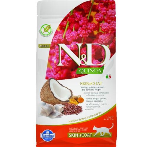 Farmina N&D Quinoa Feline Skin&Coat Herring & Coconut 1.5kg