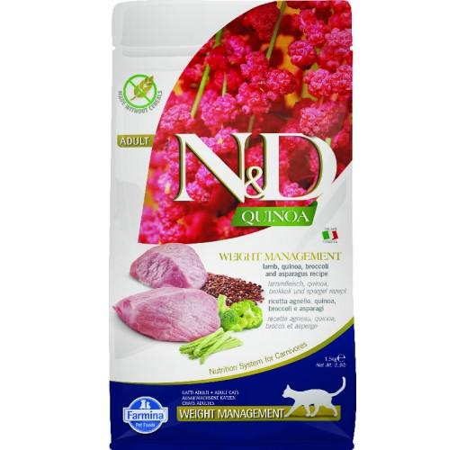 Farmina N&D Quinoa Feline Weight Management Lamb & Broccoli 1.5kg