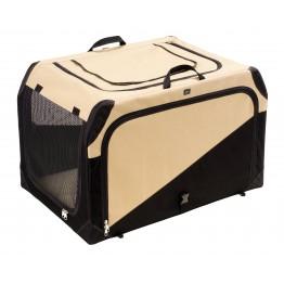 Box per cani pieghevole Gr. L, beige/nero, 91 x 61 x 58 cm