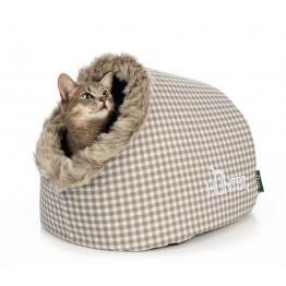 Cuccia chiusa per gatti, 38x40x27 cm, beige