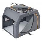 Dog transport box with aluminium frame 61x46x43 cm - S
