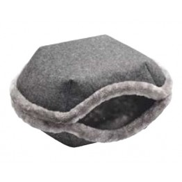 Cat and dog bed Lugano, anthracite 55cm