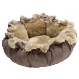 Dog bed Tilburg, brown 95 cm