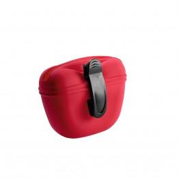 Borsa porta snack in silicone Lugo, rosso 14 x 15 x 7 cm
