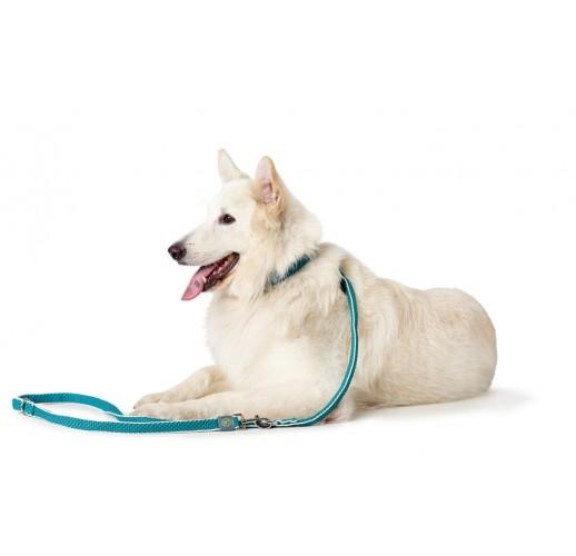 Training leash Hilo, Mesh, turquoise 15/200cm