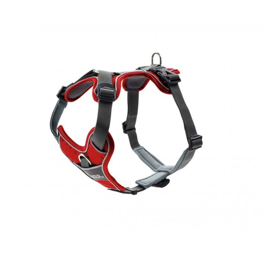 Harness Divo, red/grey L-XL 79-107cm