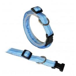 """""""Klick""""Halsband gepolstert, verstellbar von 25-40 cm HELLBLAU"""