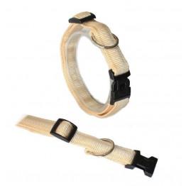 """""""Klick""""Halsband gepolstert, verstellbar von 25-40 cm beige"""