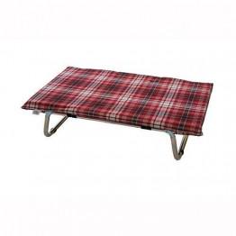 Brandina Lettoflex in alluminio, scozzese rosso 60x100 cm