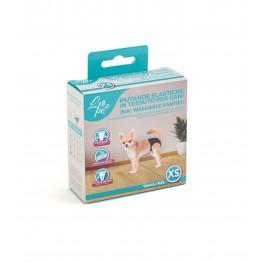 Mutande elastiche in tessuto per cani XS 18-23 cm