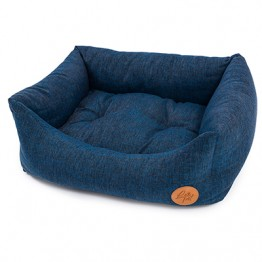 Cuccia Rodi con cuscino estraibile, melange blu 85X110 cm