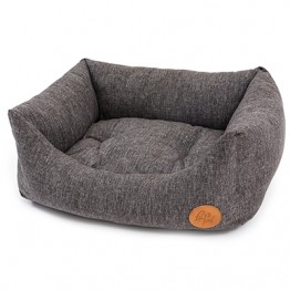 DOG BED RODI WITH REMOVABLE CUSHION, GREY 45X60 CM