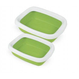 Cat litter tray BETA MINI with frame assorted colours