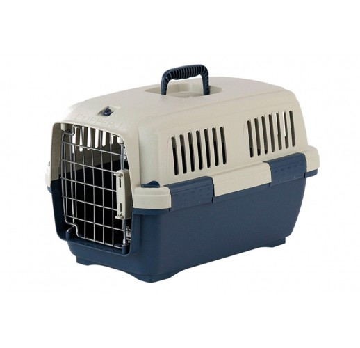 TRANSPORT BOX FOR DOGS CLIPPER CAYMAN 3 BLUE-BEIGE