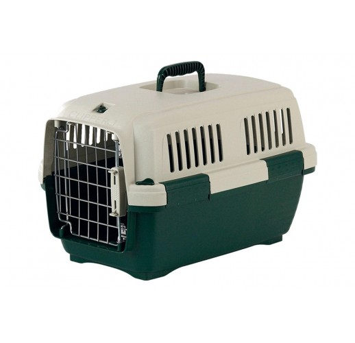 TRANSPORT BOX FOR DOGS AND CATS CLIPPER CAYMAN 2 GREEN-BEIGE