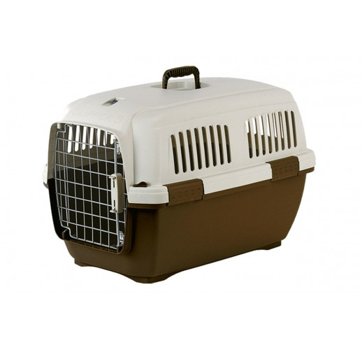TRANSPORT BOX FOR DOGS AND CATS CLIPPER CAYMAN 2 BROWN-BEIGE