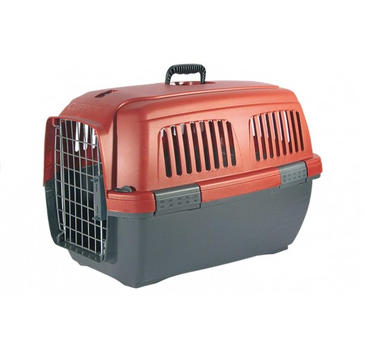 TRANSPORT BOX FOR DOGS CLIPPER CAYMAN 3 GREY-RED