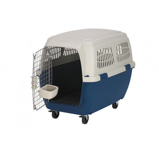 TRANSPORT BOX FOR DOGS CLIPPER CAYMAN 5 BLUE-BEIGE