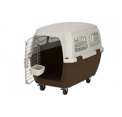TRANSPORT BOX FOR DOGS CLIPPER CAYMAN 6 BROWN-BEIGE