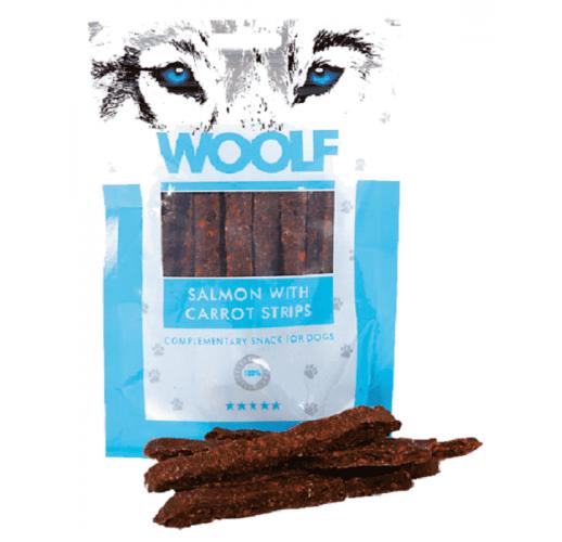 Woolf 100 gr. Strisce di Salmone e Carote