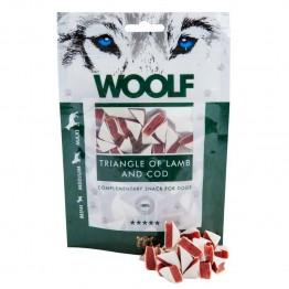 Woolf 100 gr. Triangolini di agnello e merluzzo