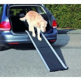 Rampa per cani in aluminio nera 38 x 155 cm