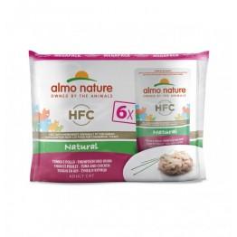 Almo HFC Cat Natural - Tonno e Pollo (6 x 55 g Megapack)