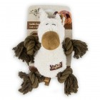 Dog Toy Lambswool Cuddle Body Rope, assorted
