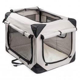 Trasportino per cani pieghevole, grigio S (70x52x52cm)