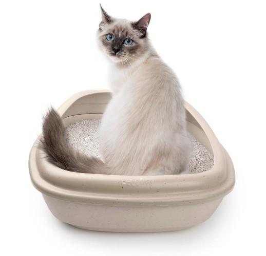Cat litter tray Beco beige 54.5x39x18cm
