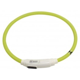 collare gatto nylon LED USB verde 40cm