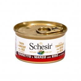 Schesir cat al Naturale Tonno e Manzo con riso - lattina 85gr.