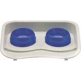 Feeder Station, plastic blue  44x34cm 300 ml