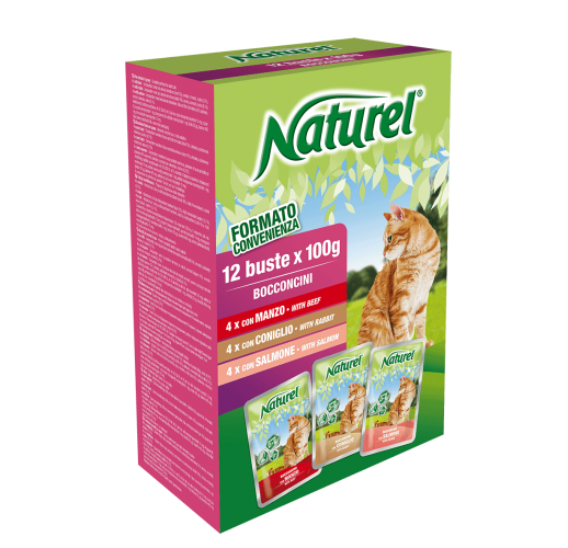 Naturel Pouches  BOX 12x100g - Beef, Rabbit, Salmon