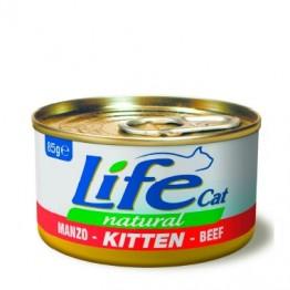 Lifecat kitten beef 85 gr.