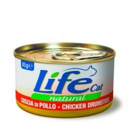 Lifecat chicken drumstick/leg 85 gr.