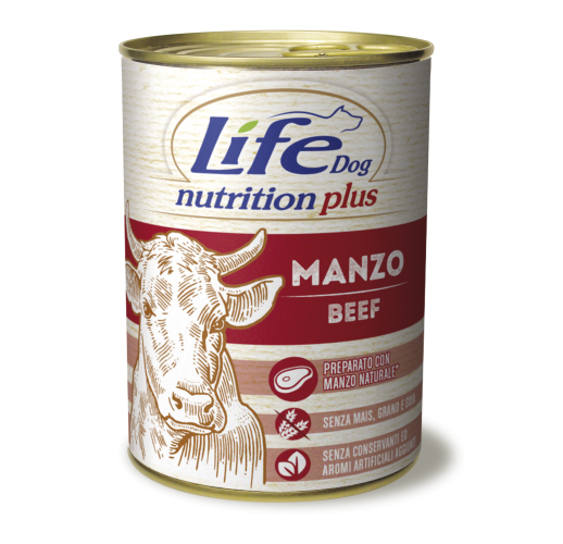 Lifedog beef chunks NUTRITION PLUS 400G